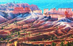 Bryce Canyon, Utah - It is the hoodoos that make Bryce Canyon so remarkable - the spires, fins and windows of eroded and beautifully colored rock formations. This small national park also has vast stone ampitheaters, mountains that reach 9,000 ft and is perfect for hiking.
