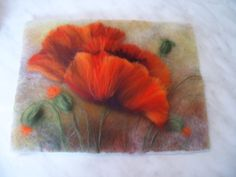 dry felted wall art by ANNASOJANNE