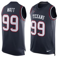 JJ Watt Houston Texans Player Name & Number Tank Top - Navy
