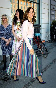 Crown Princess Mary of Denmark attends the inauguration ceremony at the new crisis center for women at Danish Women's Society on April 20, 2018 in Copenhagen, Denmark.