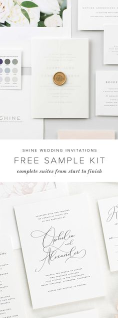 Shine Wedding Invitations is here to meet all of your stationery needs from start to finish. Experience our unmatchable quality and clean, elegant, and timeless design in person. Request a wedding invitation free sample kit to feel the difference. Free Wedding Invitation Samples, Shine Wedding Invitations, Wedding Stationary, Fall Wedding, Our Wedding, Dream Wedding, Sparkle Wedding, Elegant Wedding, Floral Wedding