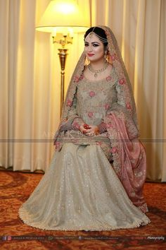 Pakistani bride Pakistani Wedding Outfits, Pakistani Wedding Dresses, Indian Dresses, Party Wear Dresses, Wedding Party Dresses, Formal Dresses, Pakistan Bride, Asian Bride, Bridal Lehenga