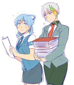 Web Browsers in Anime Style - Genderbend Internet Explorer and Genderbend Google Chrome