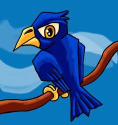International Klein Bluebird #yvesklein #bird #cartoon