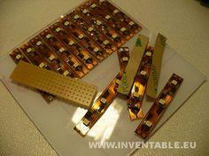 Montaje de las tiras de leds en la base de policarbonato