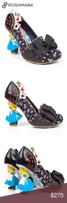 NIB 💝❤️ Irregular  Choice Alice in Wonderland 👠 Irregular Choice Black Alice in Wonderland Concept Heels size 41 (10) in Irregular Choice New in Box Retired Style no longer available in stores All offers are welcome 😀 Irregular Choice Shoes Heels