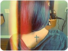 cross tattoo (cross tattoo,tattoo,cross,hair,love,young,beauty)