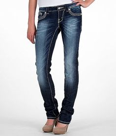 miss me jeans rhinestone | Miss Me Rhinestone Straight Stretch Jean - 's | Buckle