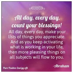Gratitude. Abe