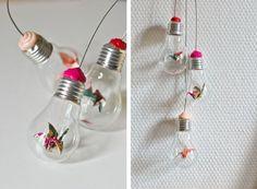 Suspension d'ampoules mobile origami