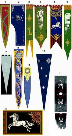 Lord of the Rings Banners -