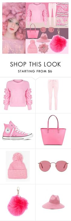 """""""I swear her hair's made out of Cotton Candy"""" by very-berry-fashionista ❤ liked on Polyvore featuring Ashish, WithChic, Boohoo, Converse, Kate Spade, Dorothy Perkins, Ray-Ban, claire's, Gucci and Tarina Tarantino"""