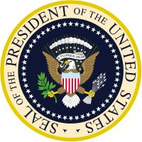 The Seal of the President of the United States is used to mark correspondence from the U.S. president to the United States Congress, and is also used as a symbol of the presidency. The central design, based on the Great Seal of the United States, is the official coat of arms of the U.S. presidency and also appears on the presidential flag.