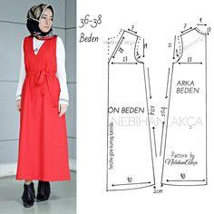 Moda dikiş giyim aksesuar tasarım tesettür diy kombin hijab fashion anne bebek kitap günlük kadın site Street Hijab Fashion, Abaya Fashion, Muslim Fashion, Fashion Sewing, Diy Fashion, Ideias Fashion, Dress Sewing Patterns, Clothing Patterns, Sewing Clothes
