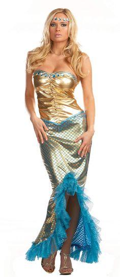 Sea Worthy Sexy Mermaid Costume Adult Mermaid Costumes - Mr. Costumes