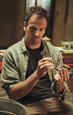 """Jonny Lee Miller as Sherlock Holmes, """"Elementary"""" (CBS)"""
