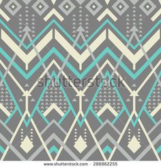 Seamless Chevron Mix Pattern for Textile Design. Modern Geometrical Background with Tangled Lines and Triangles. Vector Illustration