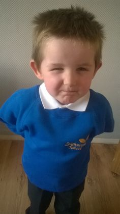 Wynter's first day at nursery