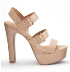 nude platform sandal heels $52