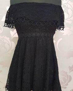 #top #nero #merletto #valeria #abbigliamento