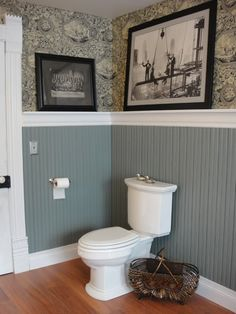 Victorian bathroom - Love the picture rail and wainscoting!