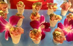 Ahi Tuna Poke Cones So Divine Catering