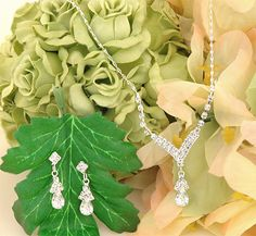 bridal jewelry sets crystal drops