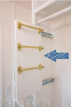 Slide Your Storage pull out for scarves, belts, etc.  Use as filler in closet with bookcases??