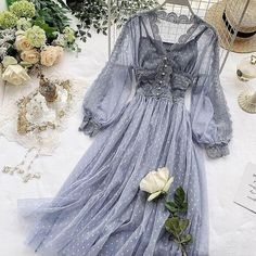 K Fashion, Mori Girl Fashion, Lace Mesh Dress, Chiffon Dress, Cheap Dresses, Casual Dresses, Summer Dresses, Maxi Dresses, Fairy Dress