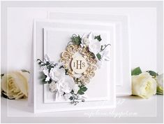 First Communion Cards, Confirmation Cards, Wedding Stationery, Holi, Diy And Crafts, Handmade Cards, Frame, Scrapbooking, Design