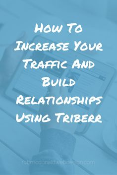 Would you like to increase traffic to your blog and build relationships at the same time. Well these things go hand in hand. You want to increase your web traffic, and building relationships with other bloggers is certainly a way to do this, but it doesn't hurt to have a nifty tool (yeah, I really said nifty), to help with that.Triberr is one of those tools.