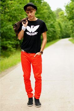 awesome colorful jeans.