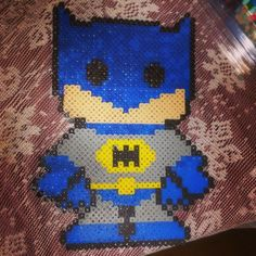 Batman perler beads by adorkable_chicka