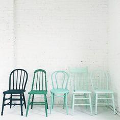 33 Reasons To DIY Painted Kitchen Chairs - El Balcón de Marisol - Chair Design