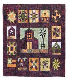 Quilt Blocks on American Barns - Freight Damaged 735272010821 - Quilt in a Day Books