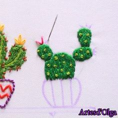 En este video te muestro cómo bordar cactus paso a paso. flowers aesthetic arrangements art bouquet cartoon drawing garden ilustrations painting photography wallpaper flowers flowers flowers of flowers flowers flowers Hand Embroidery Patterns Flowers, Cactus Embroidery, Hand Embroidery Videos, Embroidery Stitches Tutorial, Embroidery Flowers Pattern, Creative Embroidery, Simple Embroidery, Learn Embroidery, Embroidery Hoop Art