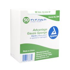100% cotton gauzePackaged in peel-down pouches for convenient, aseptic handlingPouches packed in open trays for easy accessHighly absorbentOur most competitive line of gauze spongesSterile