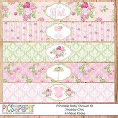 Shabby+Chic+Baby+Shower+Template | Shabby Chic Baby Shower Kit