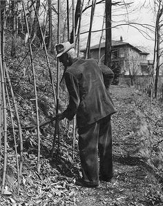 Hermann Hesse working n his garden , Montagnola..♔..