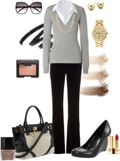 """Simple Work"" by mzcali4nia ❤ liked on Polyvore"