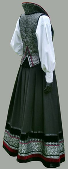 Festdrakt Going Out Of Business, Folk Costume, Traditional Dresses, Norway, Scandinavian, Textiles, Quilt Patterns, Womens Fashion, How To Wear