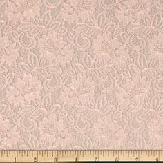 Springtime Floral Lace Fabric Baby Pink