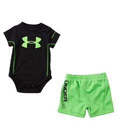Under Armour black/green onesie and shorts set (custom sized) Baby Boys, Lil Boy, Toddler Boys, Infant Boys, Carters Baby, Baby Gap, Little Boy Outfits, Toddler Boy Outfits, Baby Boy Outfits
