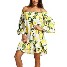 Find Nevera Women Summer Off Shoulder Chiffon Lemon Print Knee Length Mini Dress online. Shop the latest collection of Nevera Women Summer Off Shoulder Chiffon Lemon Print Knee Length Mini Dress from the popular stores - all in one V Dress, Denim Maxi Dress, Casual Dresses For Women, Sexy Dresses, Summer Dresses, Party Dresses, Bandage, Maternity Fashion, Maternity Dresses