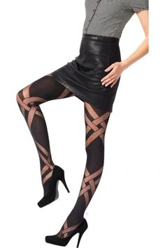 65aac130bd6 Pretty Polly Sheer   Opaque Lattice Tights AVT7 Patterned Tights