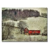 Found it at Wayfair - 'Snowy Cabin' by Lois Bryan Photographic Print on Canvas