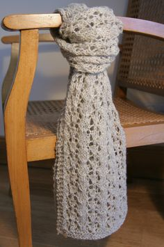 Lace Knit Undyed Natural Wool Scarf by Anneatcountrybazaar on Etsy, £38.00