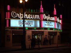 Sign introducing Steve Hackett at the Orpheum.