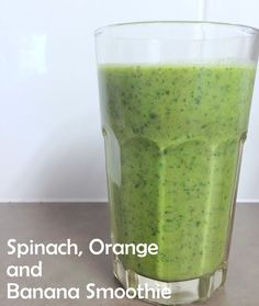Banana, Orange and Spinach Smoothie