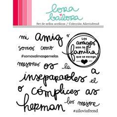 Lora Bailora Sellos acrilicos en Español - COLECCION AILOVIUFREND